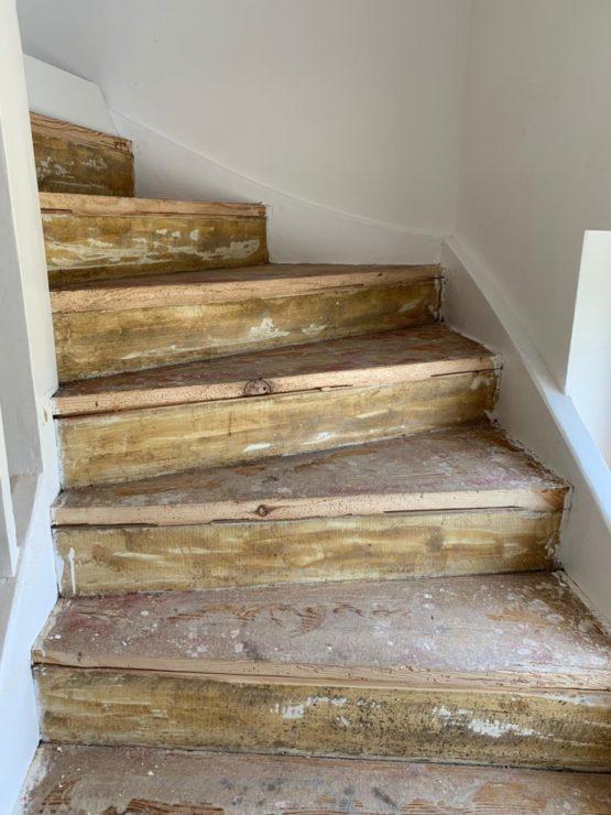 Treppenhaus entkernt